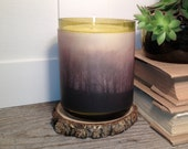 Recycled Wine Bottle Soy Candle With Vellum Photography Print by StudioK.