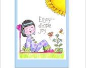 Matted Sweet Joy Chinese Girl print celebrating the sweet joy of adoption