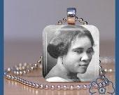 Glass Tile Necklace Madame CJ Walker Black History