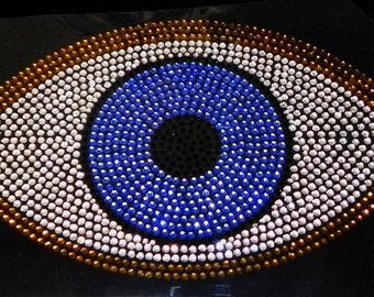Evil Eye Iron On Rhinestone Transfer Bling