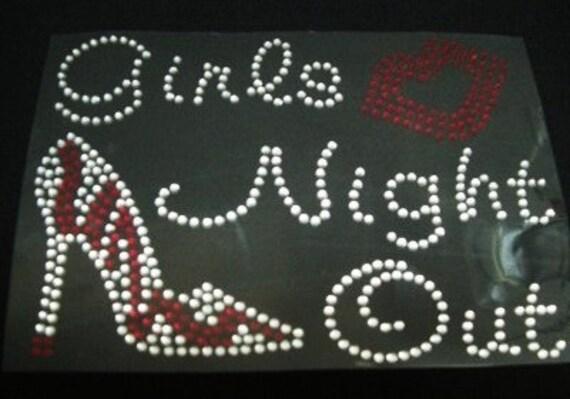 Girls Night Out Iron On Rhinestone Transfer