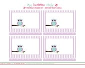 Girl Owl Birthday - Fancy Labels. Printables By Invitation Only DIY