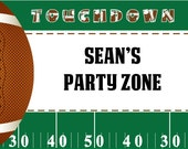 Football Birthday Party. Printable Welcome Sign - By Invitation Only DIY