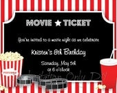 Movie Party - Invitation. Printables By Invitation Only DIY