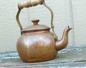Vintage Copper Clad Tea Pot