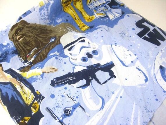 "Star Wars cotton woven fabric 20"" x 20"" diaper cut"