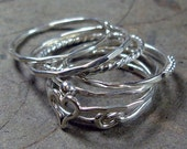 Stacked Rings Sterling Silver - Mix and Match - Pick Your Own Set - Handcrafted - Any Size