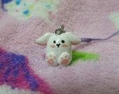SALE Cute Chubby Bunny Polymer Clay Phone Charm