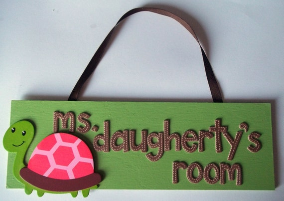 Custom Personalized Door Room Sign Teacher Gift Any Colors or Theme