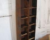 Industrial vintage metal shelf / drawer organizer salvaged