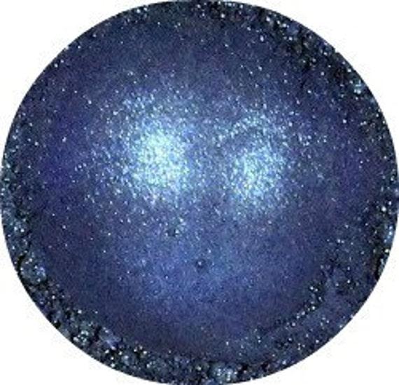 Blue Eye Shadow, semi matte, dark smokey eyeshadow, mineral makeup, all natural cosmetics, loose pigment