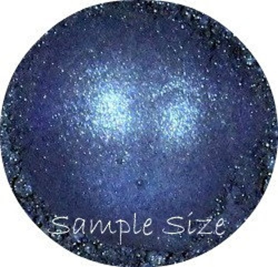 MINERAL EYE SHADOW Blue sample makeup cosmetics shimmering sapphire eye shadow pigment