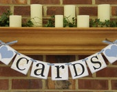 Cards Table Wedding Banners Decorations Wedding ReceptionSigns CUSTOM COLORS