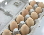 Wooden Eggs | DIY Unfinished Wooden Easter Eggs, Natural Wood Eggs (Pullet size, 2 inch egg)
