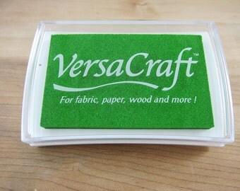 Green Versacraft Stamp Ink Pad - VersaCraft for Paper, Wood, Fabric, Etc. - Spring Green