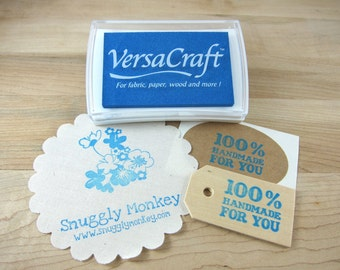Stamp Ink Pad - VersaCraft for Paper, Wood, Fabric, Etc. - Cerulean Blue