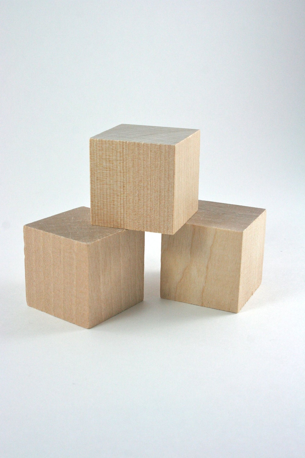 Unfinished wood blocks inch wooden set of for
