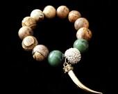 Gold Horn Bracelet