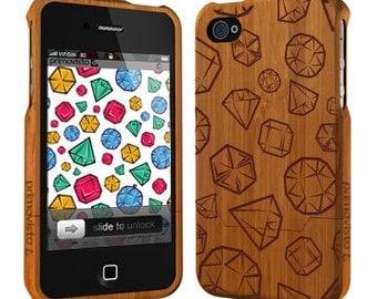 Jewel - Bamboo iPhone 4 / 4S case, Wood iPhone 4S case, iPhone 4 case