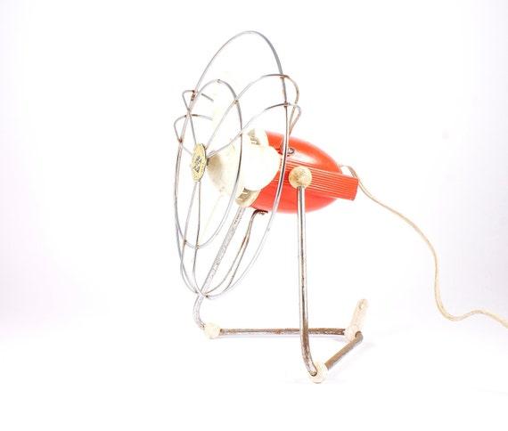 Vintage orange table fan