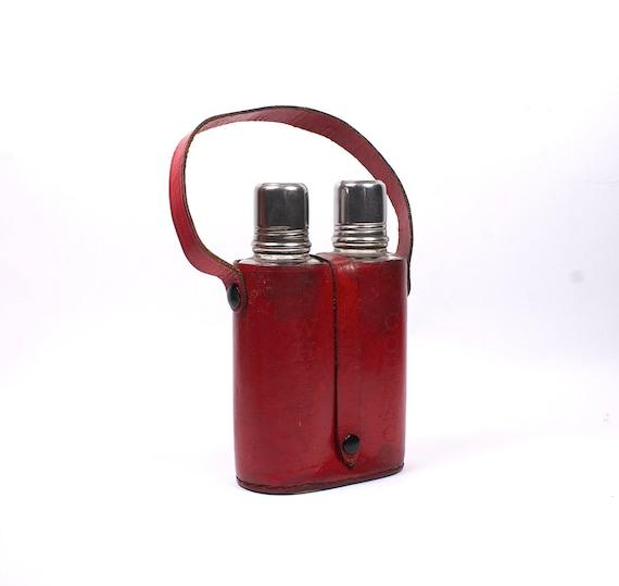 Vintage red flask.