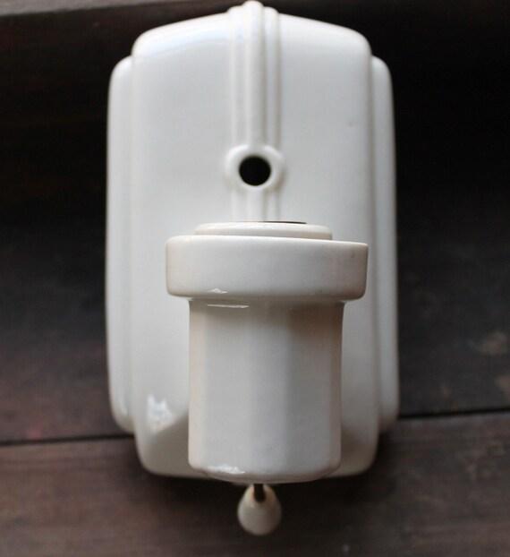 Reserved Vintage Art Deco Porcelain Wall Sconce
