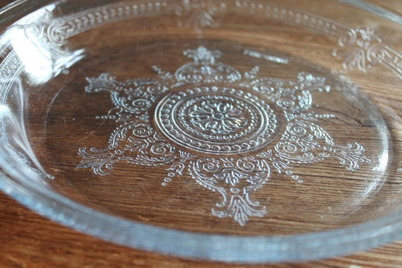 Vintage Fire King Pie Plate Sapphire Blue Philbe Pattern