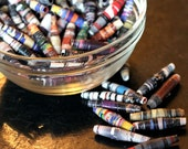 Hand Rolled Beads - Recycled Magazine