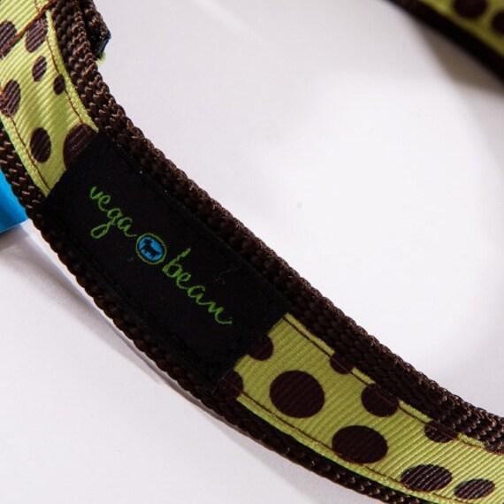 Brown Dots Adjustable Designer Dog Collar
