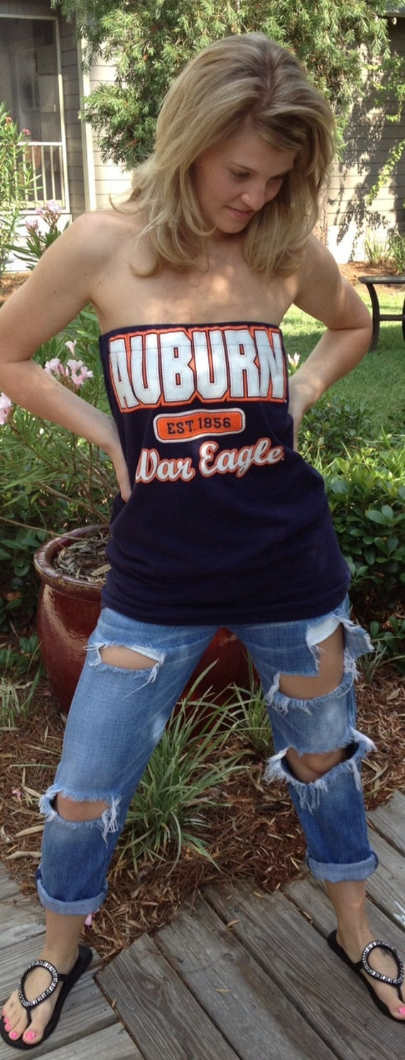 Women's Blue Auburn War Eagle Tube Top Shirt / Dress