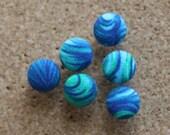 Thumbtacks - Push pins- turquoise Set of 6
