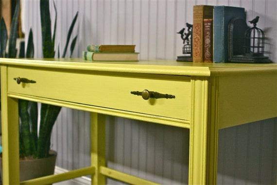Mid Century Yellow Desk