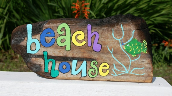 Beach House Decor parede com o Green Fish & Coral
