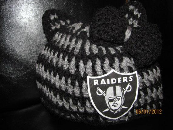 Raiders/Hello Kitty crochet Beannie