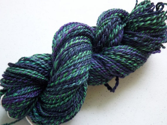 Handspun Wool Paint Merino in Thistle & Shamrock