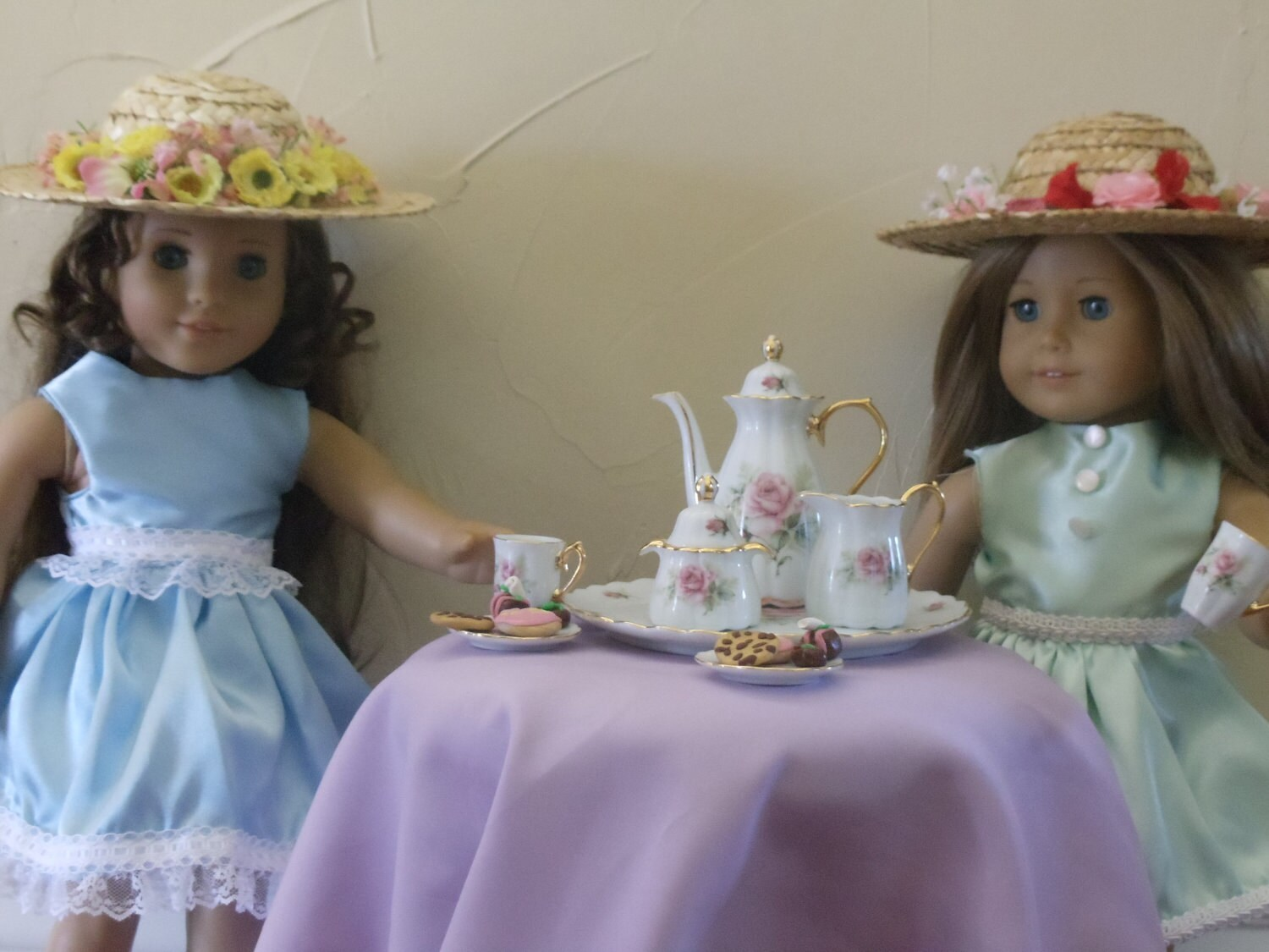 Doll Tea Set Tea Party Treats And Hats For American Girl Or
