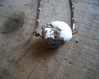 SALE- Earthen- White Turquoise Layering Necklace