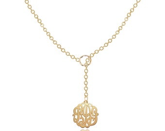 Personalized Monogram necklace Small to Medium (Order Your Initials) - 14K GoldFilled