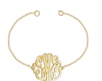 10K Gold Designer Personalized Initial Bracelet (Order Any Initials)
