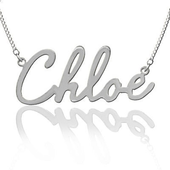 Personalized Name Necklace (Order Any Name) - White Gold or Sterling Silver