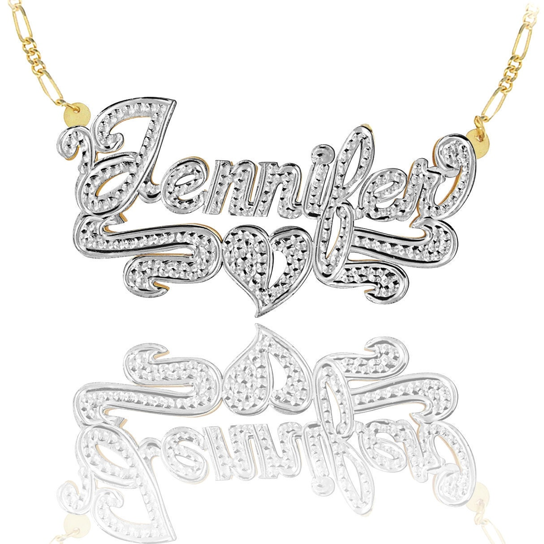 handmade name necklace with diamond beading imitation order. Black Bedroom Furniture Sets. Home Design Ideas