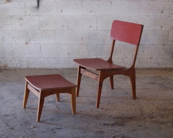 solid cherry chair and stool