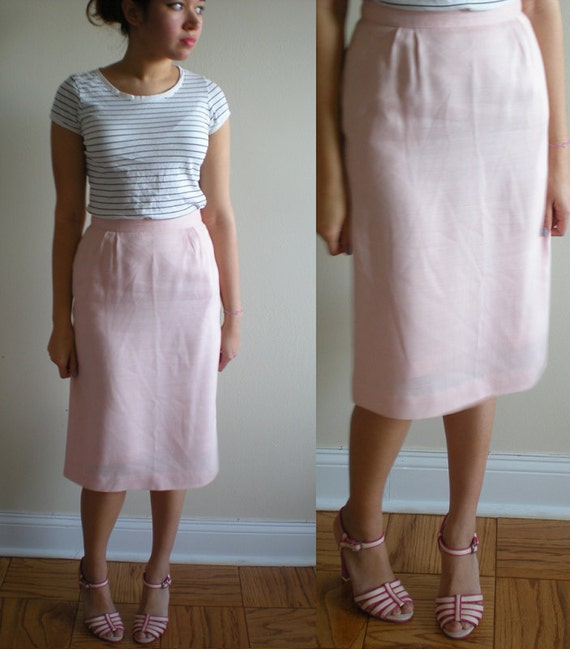Light PASTEL Pink Skirt with POCKETS