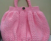 Pink crochet bag / Balloon bag   /   Pink balloon bag