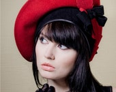 """Nice handmade felt hat """"Diana"""". Made to order in any color."""