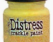SALE Mustard Seed Yellow Distress Crackle Paint Tim Holtz Ranger