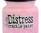 SALE Tattered Rose Pink Distress Crackle Paint Tim Holtz Ranger