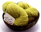 Spring sproing - Kaliko 80/20 lambswool and nylon worsted yarn, 60g/170m, reclaimed, fresh green