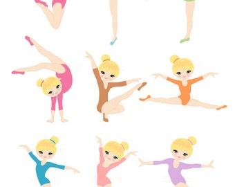 Clip Art Gymnastic Clip Art gymnastics clipart etsy blonde gymnast girl clip art