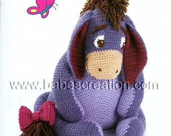 Eeyore Amigurumi Pattern: INSTANT DOWNLOAD